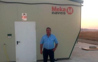 Nave ganadera de recría de pollitas en Mainar, Zaragoza. Nave de Mekanaves