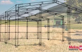 Nave agrícola para almacén de aperos agrícolas en Navarra, Mekanaves.