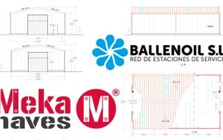 Nave modular metálica y galvanizada para garaje de vehículos en Alcalá de Henares. Mekanaves