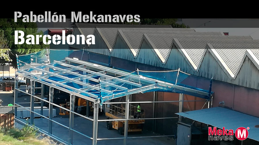 Pabellon prefabricado en Barcelona