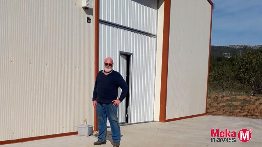 Cliente satisfecho de nave agrícola en Tarragona, opción automontaje. Mekanaves