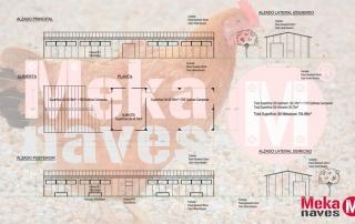 Nave modular prefabricada desmontable para avicultura alternativa. Mekanaves