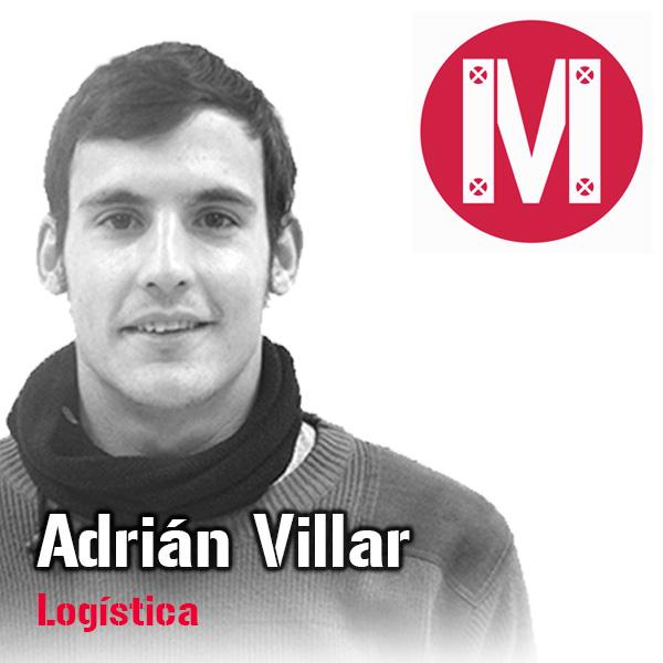 Adrián Villar. Encargado de Logística. Mekanaves