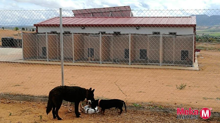 Nave canina Mekanaves terminada en Badajoz, Residencia Canina Can de Luna
