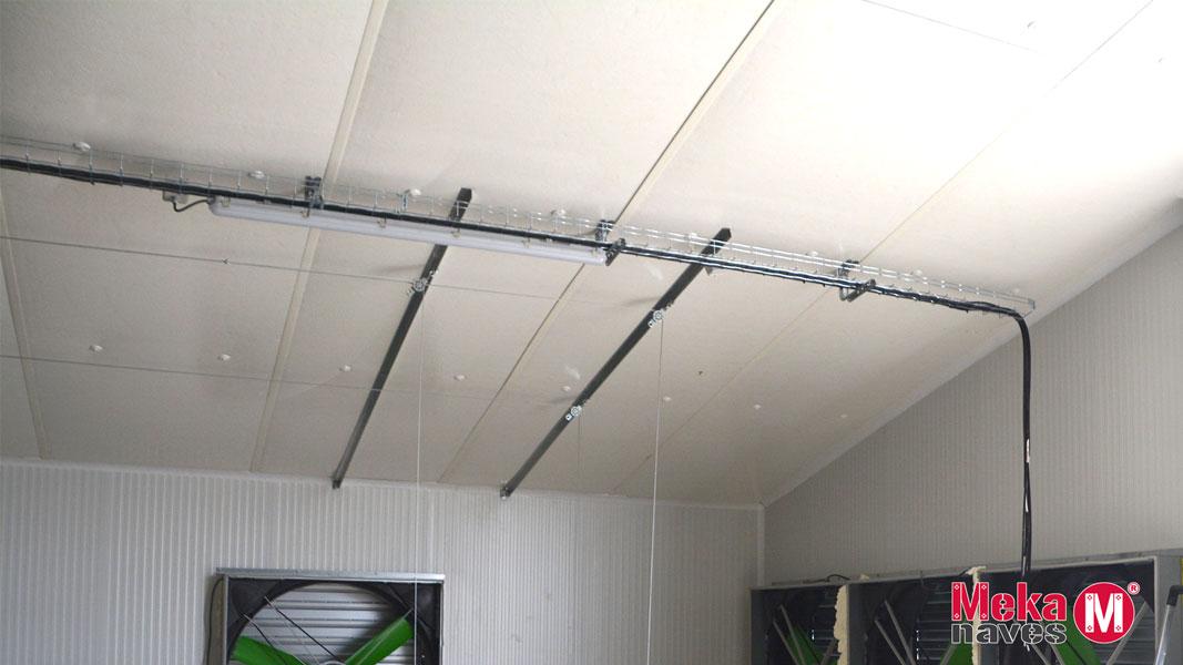 Instalacion de falso techo en granja avicola