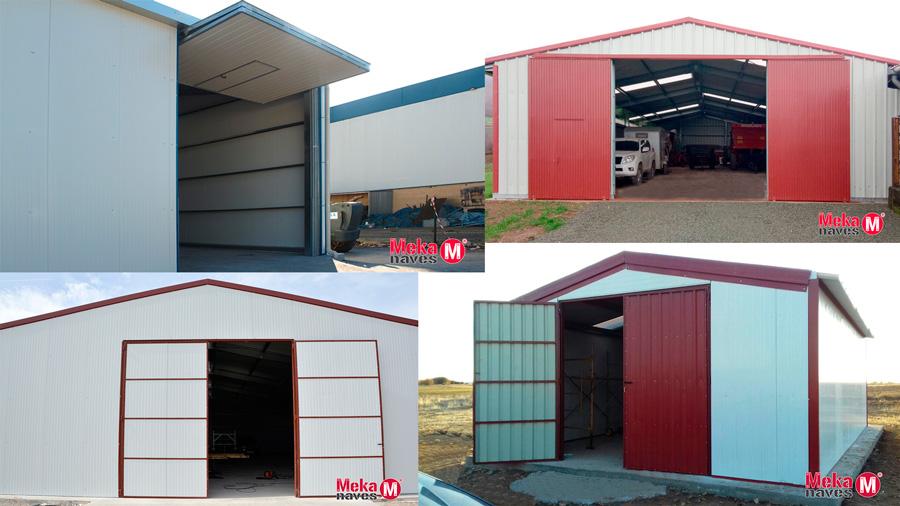 Tipos de puerta en nave agrícola prefabricada