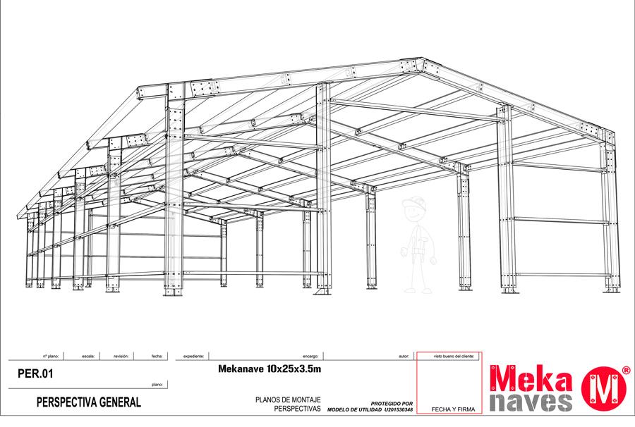 Diseño 3D estructura metálica