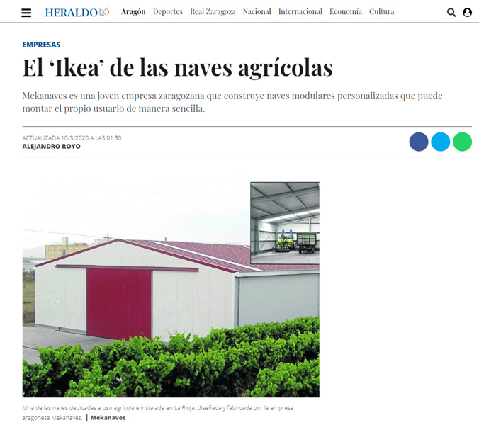 Articulo Heraldo de Aragon sobre Mekanaves