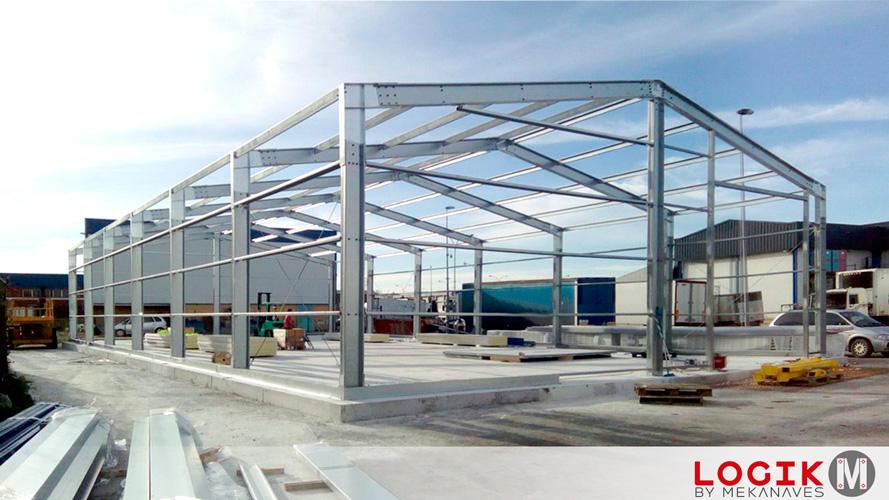 Montaje estructura nave industrial