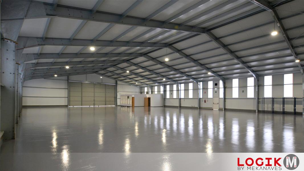 Interior hangar metalico prefabricado